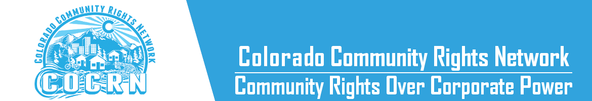 Green Party of Colorado endorsed Community Rights Amendment